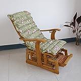 Yancyong Erweiterte Klappbaren Liegestuhl Schaukelstuhl Polster Kissen, Dicke Baumwolle Polster Kissen Bürostuhl Matte, Große 60 * 125 * 7 Cm, Grün