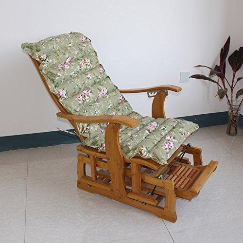 Yancyong Erweiterte Klappbaren Liegestuhl Schaukelstuhl Polster Kissen, Dicke Baumwolle Polster Kissen Bürostuhl Matte, Große 60 * 125 * 7 Cm, Grün (Schaukelstuhl-kissen Grün)