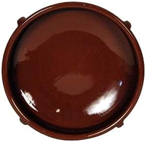Amazing Cookware Plat circulaire en terre cuite naturelle  36cm