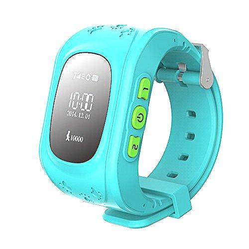 Hangang Reloj para Niños GPS Rastreador niños reloj de pulsera teléfono SIM anti-lost SOS pulsera Parent control por iOS y Android Smartphone Q50