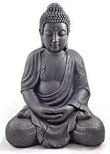 Bouddha statue tr s grande 41 5cm jardin pour int rieur et for Bouddha deco exterieur