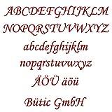 Bütic GmbH Plexiglas® Buchstaben rot - MT - 3mm Acrylglas Wunschtext/Schriftzug, Buchstaben:kleines a, Größe:Höhe 20cm