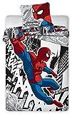 Unbekannt Faro 2TLG Marvel Spiderman biancheria da letto per bambini biancheria da letto 140X 200+ 70X 90, Cotone, Multicolore, 200x 140cm