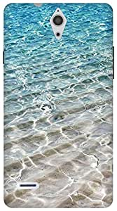 The Racoon Grip Crystal Sea hard plastic printed back case for Huawei Ascend G700
