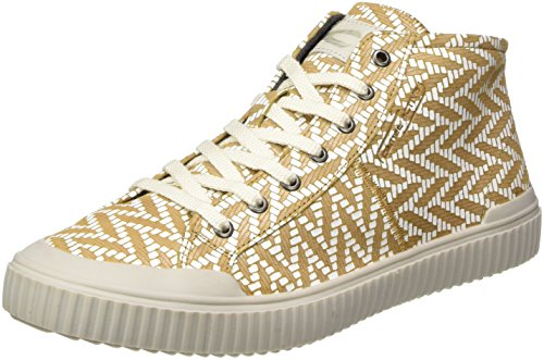 camel active Damen Rail 71 High-Top Gelb (cord/white 02)