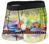 Web--ster Men 'S Underwear Sports Boxershorts, Stones Aromatische Kerzen und Orchideenblüten Behandlung Urlaub Größe S MBF-210