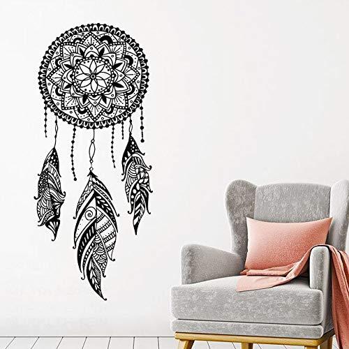 ljradj Dream Catcher Wandtattoo s Night Symbol Wandaufkleber Home Schlafzimmer Dekor Indian Mandala Bohemian Design Wandbild42x98cm