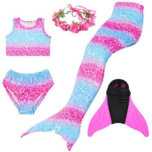 Superstar88 Mädchen Cosplay Kostüm Badebekleidung Meerjungfrau Shell Badeanzug -