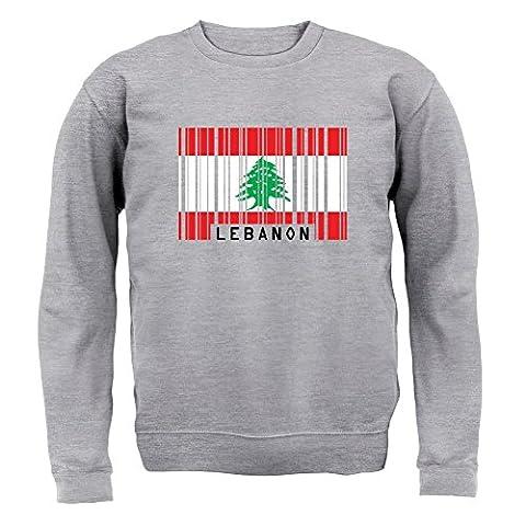 Liban / Lebanon - Drapeau Code Barre - Enfant Sweat - Gris - XXL (12-13 ans)