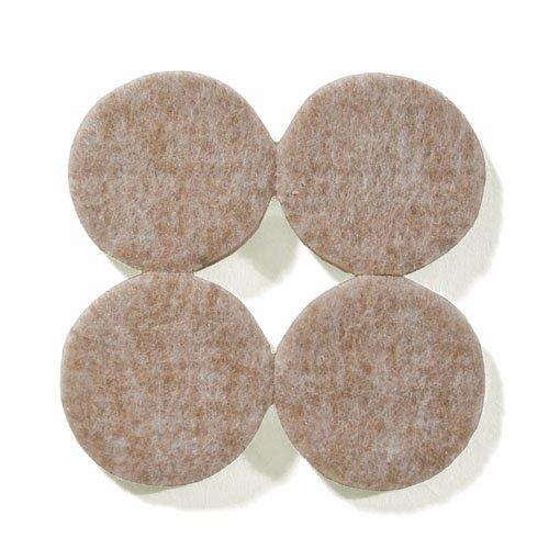 Filzgleiter, Möbelgleiter ca. 3,8 cm Durchmesser, extra strapazierfähiger Filz – 24 Stk. (4 Stk./Bogen); als Bodenschutz für Möbelfüße, Tischbeine, Stuhlbeine, Stühle - Made in Canada