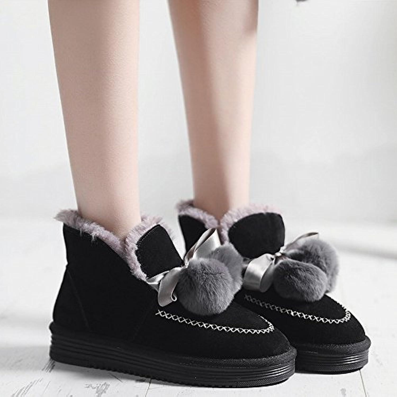 une Chaussures à Pédales Printemps Et en Hiver Que Ainsi Que Hiver Des Velours Pois Chaussures Chaussures en Coton Épais...B078Q51N43Parent 1b52f2
