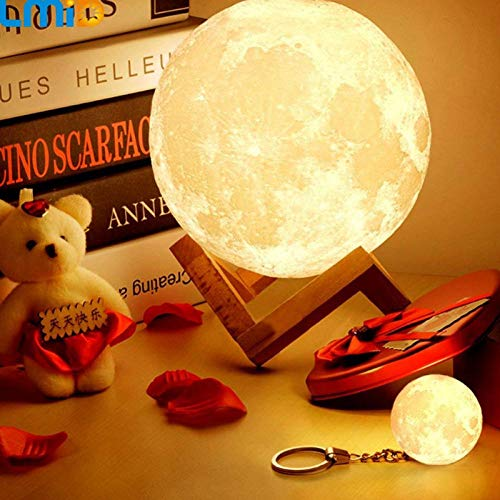 3D Print Jupiter Lamp Colorful Moon Lamp Ricaricabile Cambia Touch USB Led Night Light Home Decor Creativo Baby Gift 16 colori