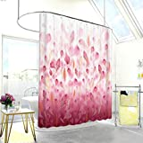 1/pc 3D Digital Printing Clear Color Pink Petals Print Personalized Shower Curtain Waterproof and Mildew wide 180x high 180cm(72x72Inch)