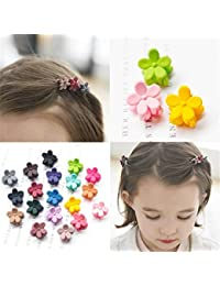 3fd92f11d APSAMBR-Flower Mini Hair Claw Clip Hair Pin For Little Girls Random  Assorted Colored,