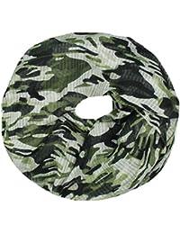 Mevina Schlauchschal Loop mit Camouflage Muster Tarnfarben Druck Rundschal Damen Schal