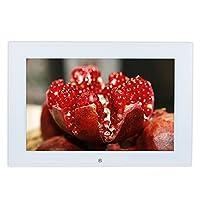 شاشة عرض عالية الدقة 25.4 سم من الزجاج المقسى LED HD إطار صورة رقمي عريض لعرض الشرائح الترجمة مشغل فيديو الموسيقى مع جهاز التحكم عن بعد 1280 * 800 هدية عالية الدقة