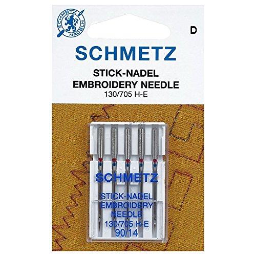 5 Nadeln Schmetz Stärke 90 Embroidery - Sticknadeln