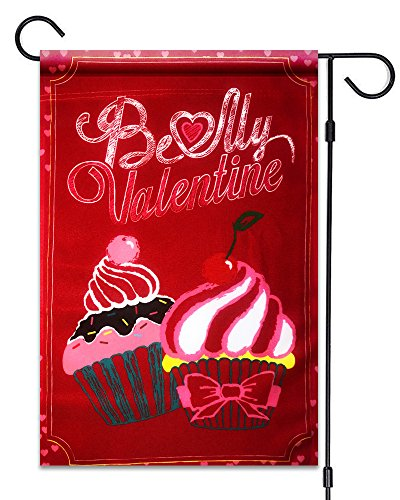 51groups Be My Valentine Cupcakes, Gartenflagge, 30,5 x 45,7 cm, 100% wetterfestes Polyester, klein