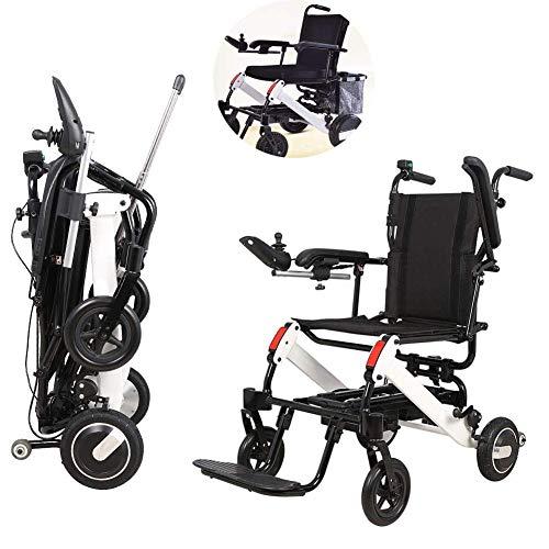 L-Y Älterer Elektrischer Rollstuhl, Leichter Faltender Beweglicher Älterer Roller, mit Einkaufskorb, Kann 15Km Fahren