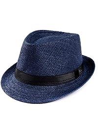 BoBoLily Gorros Unisex Hombre Mujer Stowable Sombrero De De Fieltro  Sombrero Paja Especial Estilo Sombrero para e4bcef0418e