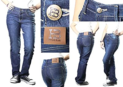HB's Straight Fit Ladies Motorcycle Jeans Reinforced with DuPontTM Kevlar® Lining with Free Armours