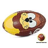 OPTIMUM Ballon de Rugby, Lion, Mini Unisex-Youth, Multicolore