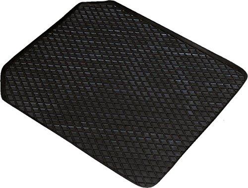 Walser 14941 Gummimatte Randwaben 53x41 cm Vorne schwarz