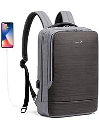 196f2170b4526 Anti-diebstahl Laptop Rucksack Business Rucksack mit USB Anschluss aus  Wasserabweisend Gewebe für Herren Damen Arbeit Uni…