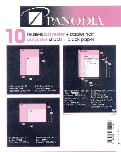 Panodia 10 feuillets polyester 24x32 cm pour book photo Ialta, Premium et Texas