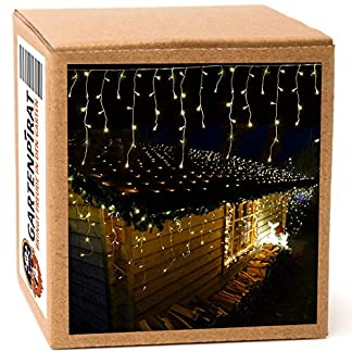 Luces navidad,cortina LED intermitente, 6 m, exterior