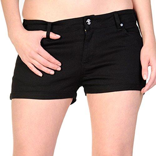 Banned Damen Shorts SKELETON HAND 1804 schwarz Schwarz
