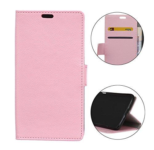 Sunrive Hülle Für DOOGEE BL5000, Magnetisch Schaltfläche Ledertasche Schutzhülle Etui Case Handyhülle Taschen Schalen Handy Tasche Lederhülle(C rosa)+Gratis Universal Eingabestift