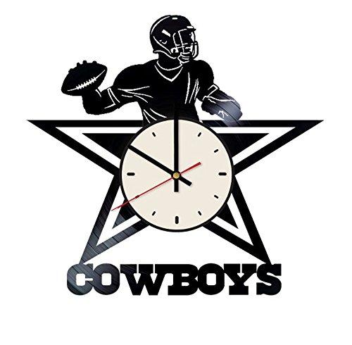 s Cowboys Vinyl Wanduhr Fußball Team Einzigartige Geschenke Wohnzimmer Home Decor ()