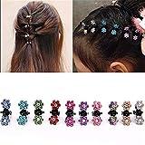 Lot de 15 épingles à cheveux DWE, petites pinces à cheveux à fleur pour frange accessoires pour femmes filles petite fille