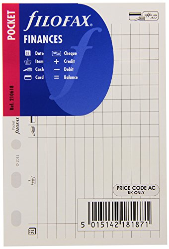Filofax 210618 Pocket Finanzen Organizer, weiß