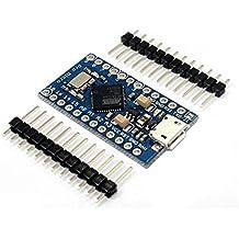 KOOKYE Pro Micro ATmega32U4 5V 16mhz row módulo de tabla de 2 pines para arduino Leonardo sustituir la ATmega328 arduino Pro Mini