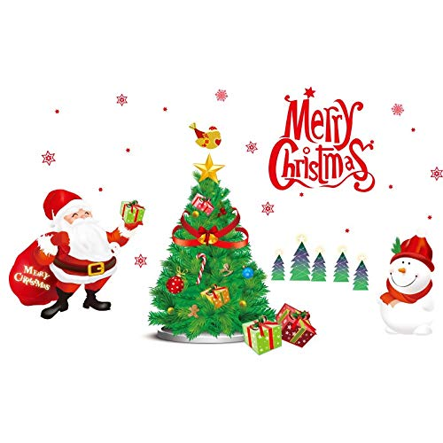 (Christmas Day Self-adhesive Wall Sticker Stickers Shopping Mall Shop Window Glass Sticker Creative Supplies Atmosphere Old Man Dress Up)
