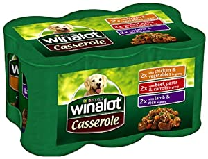 Winalot Casseroles Selection 6 x 400 g (Pack of 4, Total 24 Cans) by Nestlé Purina