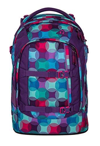 Satch PACK Hurly Pearly 3er Set Schulrucksack + Schlamperbox + Regencape blau
