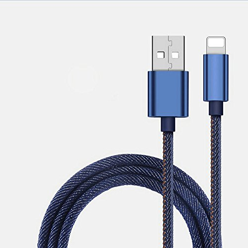 Lightning Kabel iPhone Ladekabel 1m von Coala,Lebenslange Garantie [Apple MFi Zertifiziert] für iPhone 7 7 Plus 6s 6 Plus 5s SE 5c 5, iPad Mini, iPad Air, iPad Pro, iPod touch (Blau) (Jeans Apple)