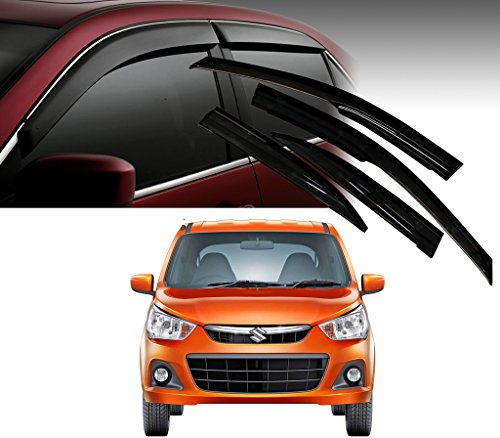 Auto Pearl - Premium Quality Car Rain Wind Door Visor Side Window Deflector For - Maruti Suzuki Alto K-10 - Set Of 4 Pcs  available at amazon for Rs.1199