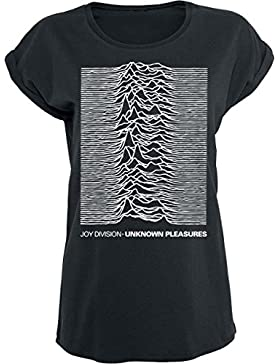 Joy Division Unknown Pleasures Camiseta Mujer Negro
