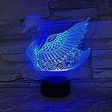 3D Nachtlichter 7 Farbwechsel Acryl Nachtlichter 3D Led Swan Decor Kinder Nachttisch Für Geburtstag Weihnachtsgeschenk Romantische Hochzeit Tischlampe