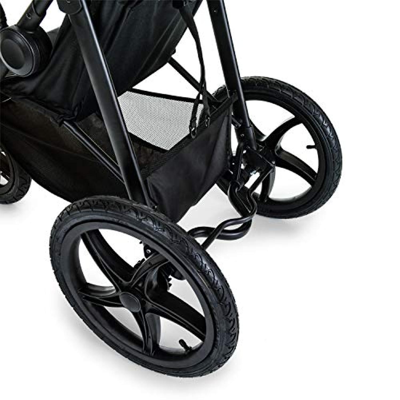 Noir Jaune Runner pliage compact poussette 3 roues Hauck avec position couch/ée Black Neon Yellow roues gonflables de 0 mois jusqu/à 25 kg