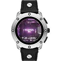 Diesel Homme Écran Tactile Digital Montre Connectée avec Bracelet en Cuir DZT2014