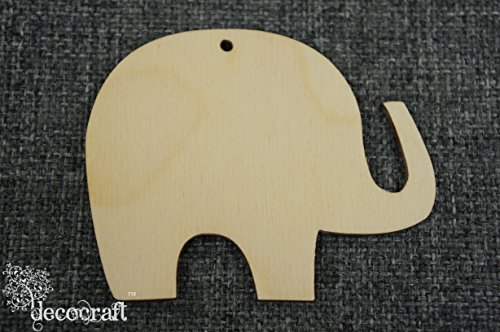 WOODEN Elephant x10 Unpainted Shape Tags Blank Decoration Craft (WX78)