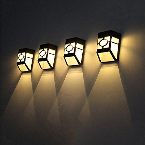linchview 2 x solar lichter 2 led perlen wasserdicht lampe gilt f r au enwand hinterhof garten. Black Bedroom Furniture Sets. Home Design Ideas