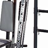 MARCY Luxus Smith-Maschine Heim-Gym mit Hantelbank Kraftstation, Schwarz, One Size - 7
