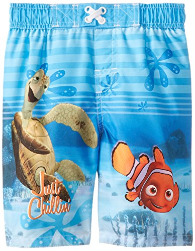 Disney Little Boys' Nemo Swim Trunk, Multi, 4T (Swim Trunk 4t)