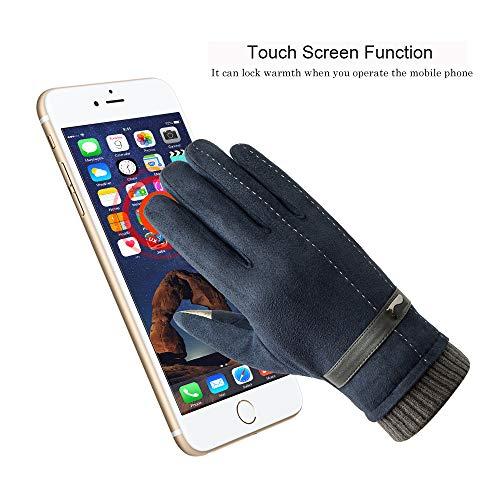 Acdyion Handschuhe Winter Damen Touchscreen Künstliches Wildleder super weiche Handschuhe Outdoor Fahrradhandschuhe dickes Fleecefutter Wildlederhandschuhe